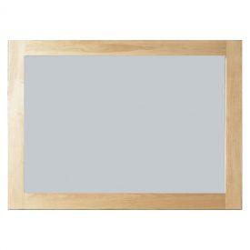 Solid Oak Frame Rectangular Wall Mirror [Mobel]