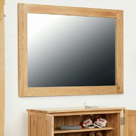 Solid Oak Frame Rectangular Wall Mirror [Mobel]