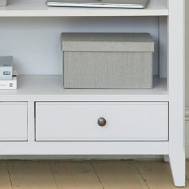 Grey Painted Low Bookcase with Drawers [Signature]
