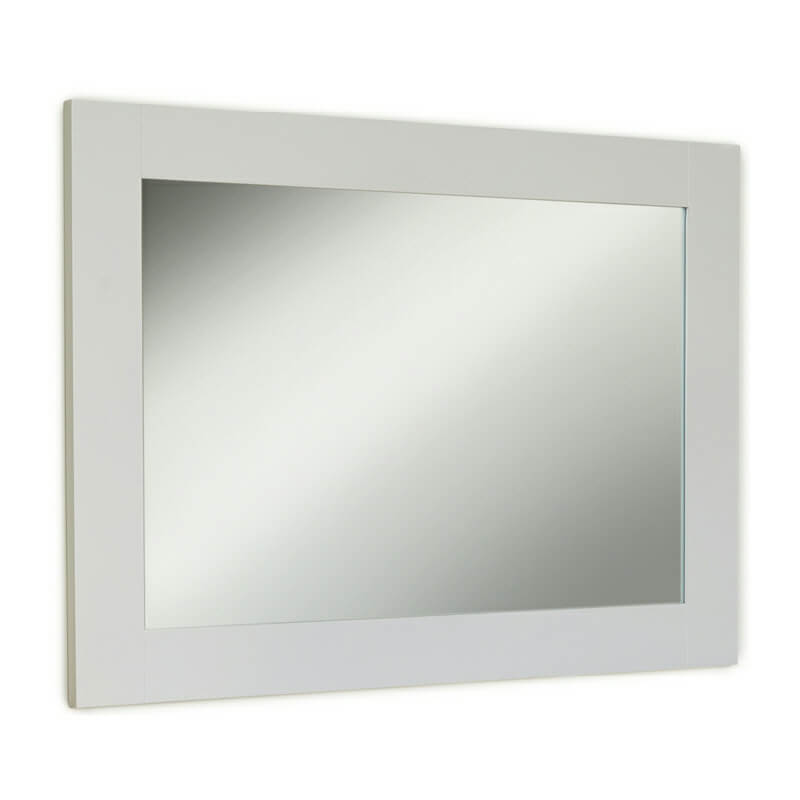 Grey Framed Wall Mirror Landscape/Portrait [Signature]
