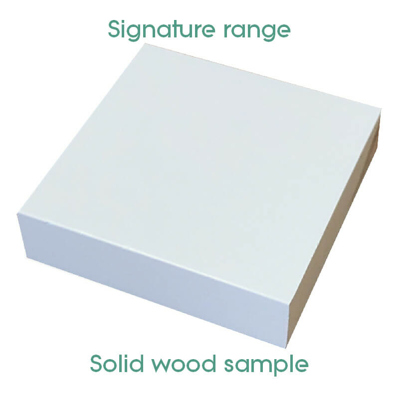 Solid Wood Grey Paint Sample [Signature]
