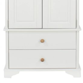 White Double Wardrobe with 2 Drawers [Aberdeen]