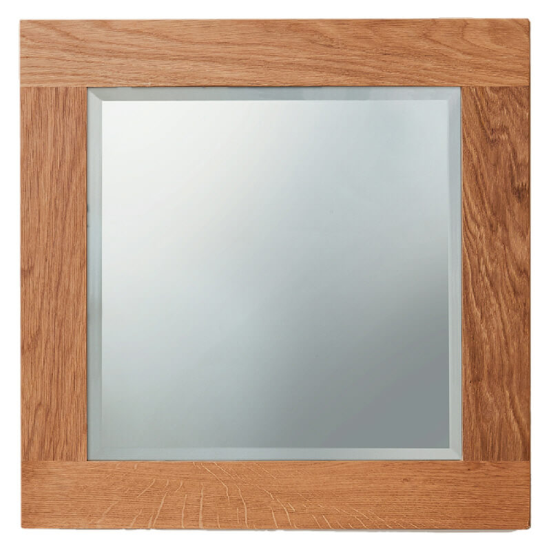 Oak Square Wall Mirror. Small or Large [Mobel]