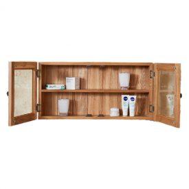 Oak Double Bathroom Cabinet, Glass Doors [Mobel]