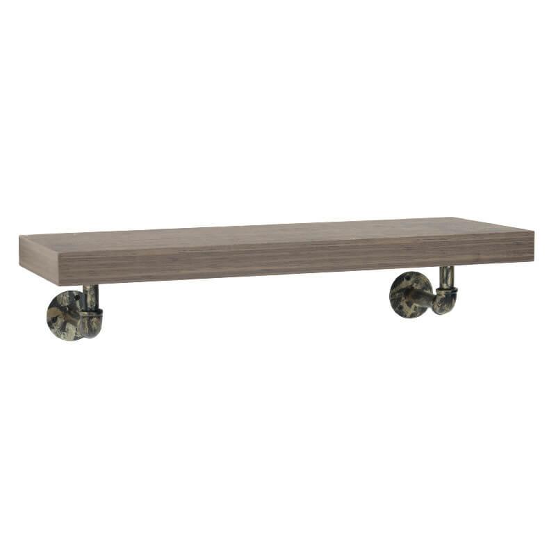 Industrial Wall Shelf with Pipe Brackets (M) [Loft]