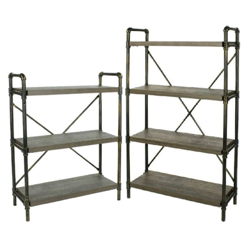 Industrial Bookshelf Metal Pipe Uprights (3,4) [Loft]