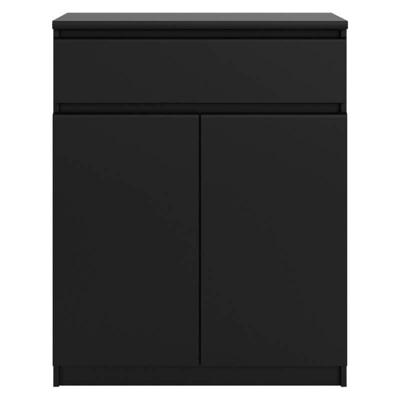 Matt Black Sideboard 2 Doors 1 Drawer [Naia]