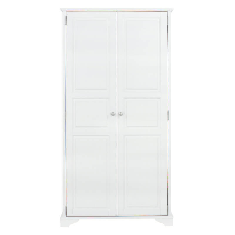 White Painted Double Wardrobe 2 Doors [Caithness]