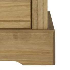 Waxed Pine Small Bedside Unit 2 Drawers [Falkirk]