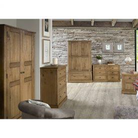 Waxed Pine Bedside Unit 1 Door 1 Drawer [Falkirk]