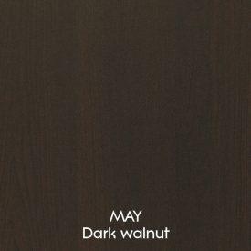 Dark Walnut Chest of 5 Drawers [May]