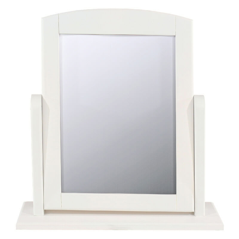 White Dressing Table Mirror, Adjustable