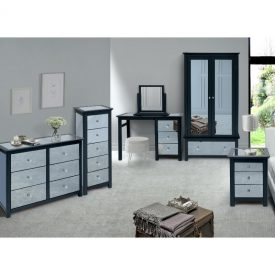 Mirrored Narrow Chest of 5 Drawers [Ayr]