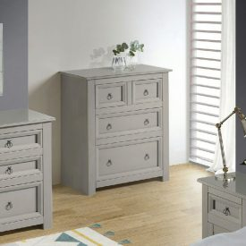 Grey 4 Drawer Chest of Drawers (2+2) [Corona Compact]