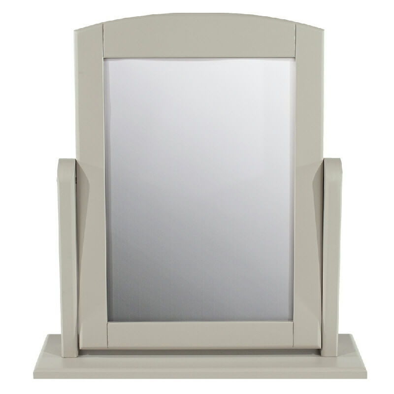 Grey Painted Adjustable Dressing Table Mirror