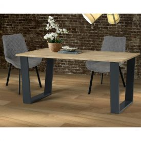 Pine Dining Table with Metal Legs (seats 4) [Texas]