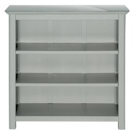 Grey & Glass Low Wide Bookcase [Elgin]
