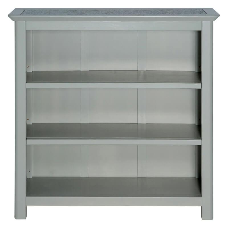 Grey & Stone Low Wide Bookcase [Perth]