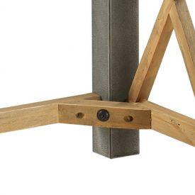 Reclaimed & Steel Open Front Lamp Table [U.E.]