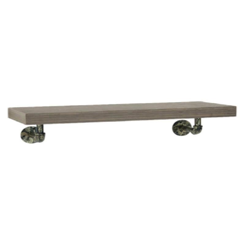 Industrial Wall Shelf with Pipe Brackets (L) [Loft]